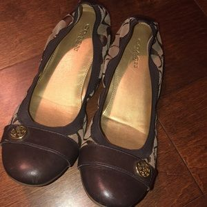 Brown Coach Flats 7.5